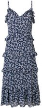 Michael Michael Kors - flared floral print dress - women - Polyester - S, M - BLUE