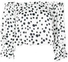 Rixo London - Blusa 'Kerry' - women - Viscose/Polyester - M - Bianco