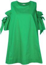 P.A.R.O.S.H. - Vestito con maniche a spalla bassa - women - Cotton - XS, S - GREEN