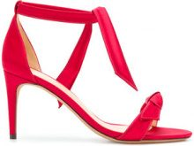 Alexandre Birman - Sandali con nodo - women - Calf Leather/Leather/Satin - 36.5, 37, 38, 38.5 - RED