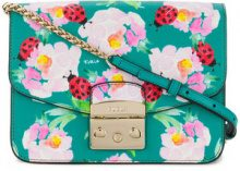 Furla - printed Metropolis shoulder bag - women - Leather - One Size - Verde