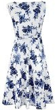 H&R London Blue Rosaceae Swing Dress Abito multicolore