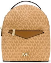 Michael Michael Kors - round zipped backpack - women - Leather - OS - NUDE & NEUTRALS
