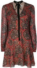 Red Valentino - Vestito stampato - women - Polyester/Silk/Spandex/Elastane - 40, 44 - BLACK