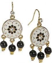 1928 Jewelry Donna lega trasparente Vetro FASHIONEARRING