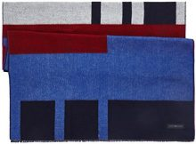 Tommy Hilfiger Block Party Scarf, Sciarpa Donna, Blu (Corporate 901), Produttore: Taglia Unica
