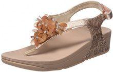 FITFLOP Boogaloo Back Strap Sandals, Sandali con Chiusura sul Retro Donna, Rosa, Oro (Rose Gold), 37 EU