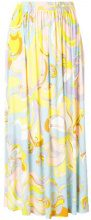 Emilio Pucci - printed midi skirt - women - Viscose/Silk - 40, 42 - YELLOW & ORANGE