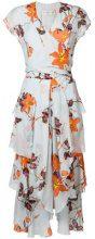 Etro - floral-print wrap dress - women - Silk - 40, 42 - BLUE