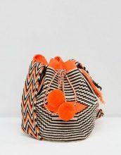 Jardin Del Cielo - Borsa mochila Wayúu arancione - Multicolore