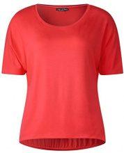Street One 311908 Gunja, T-Shirt Donna, Rot (Hibiscus Red 11346), 46 (Taglia Produttore: 40)
