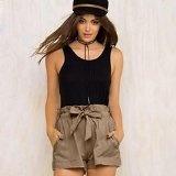 Pantaloni da donna,Xinantime Vita alta allentati Pantaloncini moda femminile con cintura