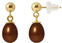 Pearls Colors &-Orecchini pendenti, in oro giallo 9 kt, con perla d'acqua dolce, AM-004-CHO P78J 9BOC