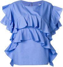 Milla Milla - Blusa increspata - women - Cotone - 40, 42 - BLUE