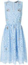 Markus Lupfer - Vestito con ricamo di pizzo a fiori - women - Polyester/Viscose/plastic - S - BLUE