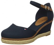 Tommy Hilfiger Iconic Elba Basic Closed Toe, Espadrillas Donna, Blu (Chambray Blue 407), 38 EU