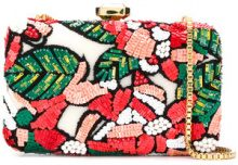 Elie Saab - Clutch a fiori - women - Brass/Sequin/Polyester - OS - MULTICOLOUR