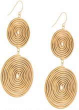 Petite Grand - Double Espiral earrings - women - 14kt Gold Plated Rhodium - OS - METALLIC