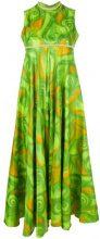 Vogue Vintage - swirl dyed dress - women - Acetate - 42 - GREEN