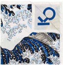 Kenzo - wave print scarf - women - Silk - One Size - WHITE