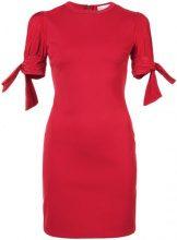 Red Valentino - Abito mini con dettaglio maniche - women - Viscose/Polyamide/Spandex/Elastane - S, M, L, XS - Rosso