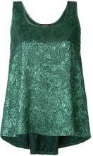 Rochas - Canotta con lavorazione in rilievo - women - Silk/Polyester - 42, 44 - Verde