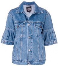 Katya Dobryakova - Giacca in denim 'Flowers Decor' - women - Cotone - XS - BLUE