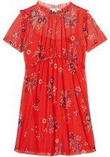 FIND Printed Chiffon Vestito Donna, Multicolore (Red Mix), 44 (Taglia Produttore: Medium)