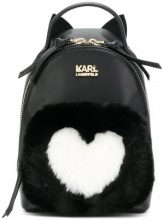 Karl Lagerfeld - K/Love mini backpack - women - Calf Leather/Polyester - OS - BLACK