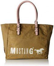 Mustang Wayne Taylor Shopper Xlhz - Borse Tote Donna, Verde (Khaki), 17x32x48 cm (B x H T)
