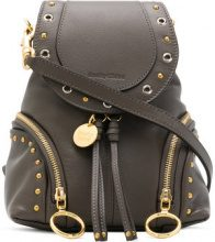 See By Chloé - small Olga backpack - women - Calf Leather/Cotone - One Size - BROWN