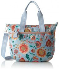 Oilily Groovy Sunflower Handbag Mhz - Borsa Donna, Blu (Light Blue), 15x25x33 cm (B x H T)