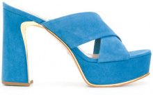 Sebastian - Sandali con plateau - women - Leather/Suede - 36, 37.5, 38, 38.5, 40 - BLUE