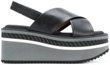 Clergerie - Sandali con plateau - women - Leather/Polyamide/rubber - 40, 37.5, 41 - Nero