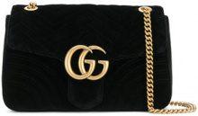 Gucci - Borsa a spalla 'Marmont 2.0' - women - Leather/Suede - One Size - Nero
