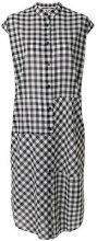 McQ Alexander McQueen - Vestito a quadri stile camicia - women - Cotton - 38, 40, 42 - BLACK