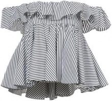 Tome - striped off-shoulder top - women - Cotone - XS, M, L - Nero