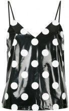 G.V.G.V. - polka dot cami - women - Polyester/Polyurethane/Rayon - 34, 36 - BLACK