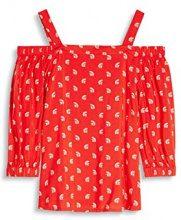 edc by Esprit 057cc1f017, Camicia Donna, Rosso (Red), 38 (Taglia Produttore: Medium)