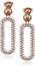 Ingenious Jewellery-Orecchini pendenti in argento con ovale con pavé ovale ES006030, RG