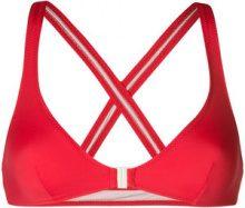 Solid & Striped - Top bikini con bretelle incrociate - women - Polyamide/Spandex/Elastane - S, M - RED