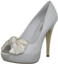 MENBUR Wedding - Scarpe da sposa, Donna, Avorio, 40.5 (7 UK)