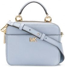 Michael Michael Kors - mini Mott cross body bag - women - Leather - One Size - BLUE