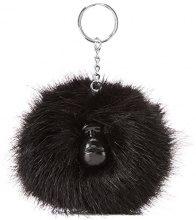 Kipling Pompom Monkey - Portachiavi ad anello e catena Unisex Adulto, Nero (True Black), 5x10x15 cm (W x H x L)