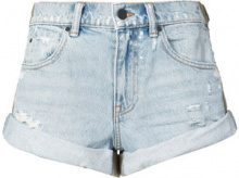 Alexander Wang - rolled hem denim shorts - women - Cotone - 24, 25, 26, 27, 28, 29 - Blu