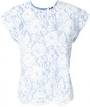 MSGM - Blusa oversized - women - Polyester - 40, 42, 44 - BLUE