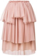 Ainea - Gonna asimmetrica in tulle - women - Polyester - 40 - Rosa & viola