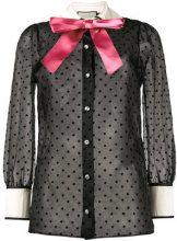 Gucci - Camicia con fiocco - women - Silk/Polyester - 38, 40, 42, 44, 46 - BLACK