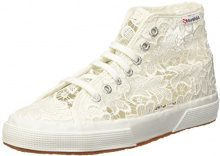 Superga 2795-MACRAMEW Sneaker a Collo Alto, Donna, Bianco (White), 37 EU (4 UK)