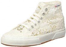 Superga 2795-MACRAMEW Sneaker a Collo Alto, Donna, Bianco (White), 35 EU (2.5 UK)